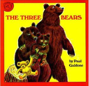 The Three Bears storybook by Paul Galdone