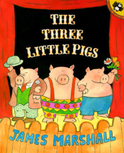 The Three Little Pigs storybook by James Marshall